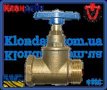Вентиль латунный PN 16 для воды t75С резьба соединения В х Н 1/2