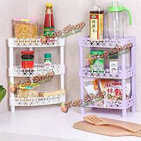 Многослойная стеллаж для хранения гостиной кухня организатор ванной настольный держатель книжной полки