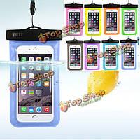 Сотовый телефон водонепроницаемый чехол универсальный подводный мешок прозрачный сенсорный мобильный телефон сумка