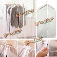 PEVA складной полупрозрачный Clear моющейся пальто костюмы одежда одежда защитный чехол сумка для хранения