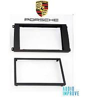 Переходная рамка 2-DIN Porsche Cayenne (9PA) 02->10 black ACV