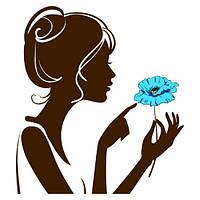 Наклейка интерьерная на Стену Girl with Flower