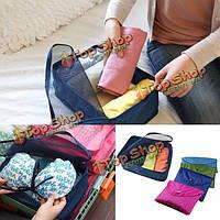 Складные сумки для хранения одежды для упаковки куба функциональный органайзер багажного путешествия