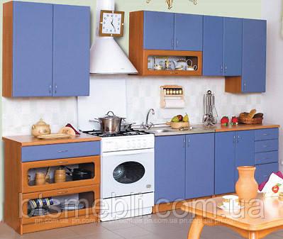 Кухня Галактика синяя МДФ 2.0м и 2.6м