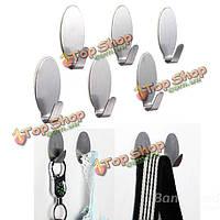6шт нержавеющая сталь клей вешалка для одежды крючок держатель стены ванной полотенце двери