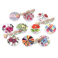Поделки ремесло кнопка кошелек детская одежда украшения шитье 100шт деревянные цветочки швейные кнопки