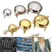 100шт золотой серебро кнопка круглый купол металл одежда сумка ремень DIY ремесло швейной фурнитуры