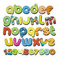 Наклейка на стену детская Интерьерная Alphabet