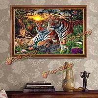 40x30см 5д джунглях тигры DIY алмазной живописи домашний декор вышивка крестом наборы