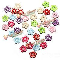 200шт 2 отверстия сливы цветок форма смола кнопки швейные аксессуары