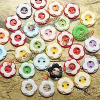 60шт сливы цветок смола швейных кнопки скрап-аксессуары одежды