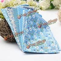 Голубая серия 7 ассорти хлопок лоскутное одеяло ткани обаяние полосатой ткани