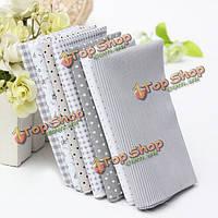 Серый 7 ассорти серии хлопок цветочные ткани в полоску одеяло