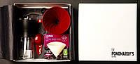 Набор The Ponomarov's coffee box кофемолка HARIO MSS-1 пуровер 01, фильтры VCF-01-40 M шт