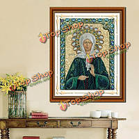 30xКомплект крестик 40см 5D DIY религиозная культура алмазов картина смолы полный горный хрусталь фигурка