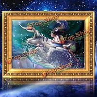 30x40см 5D DIY Taurus алмазов картина смолы полный горный хрусталь двенадцать созвездий комплект вышивка крестом
