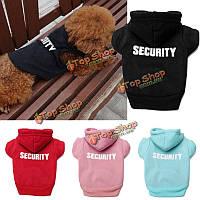 XS до XXXL зимние домашние собаки безопасности печатные одежды щенка кошка балахон теплое пальто