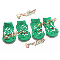 Рождественская елка Pattern Pet носки собака нескользящая рождественские носки