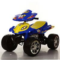 Детский квадроцикл  M 2403 ER-4 колеса EVA,желто-синий