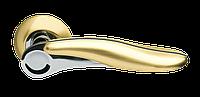Дверная ручка на розетке Armadillo Ursa LD48-1SG/CP-1 матовое золото/хром