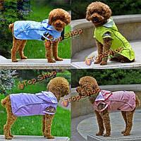 Животное собака щенок кошка открытый с капюшоном плащ водонепроницаемый одежду собака пальто куртка одежды