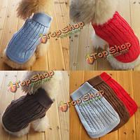 Питомец собака кошка пальто зимой теплый свитер вязать одежда и пиджаки