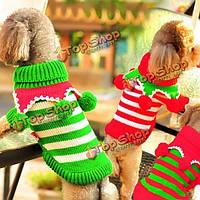 Зима кота одежд собаки щенка собаки Рождественский свитер джемпер трикотаж свитер