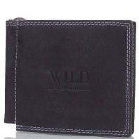 Зажим для купюр мужской кожаный ALWAYS WILD (ОЛВЕЙС ВАЙЛД) DNKC2-MH-black
