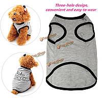 Кота собаки любимчика щенка жилет футболку аксессуар весной одежду жилет футболки пальто платье костюм одежды