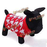 Собака дышащая вязаные свитера и пиджаки одежда красный черный