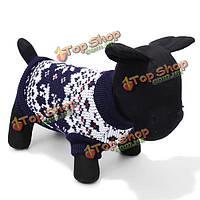 Высокая звезда любимчика собаки вязаный свитер без рукавов черный