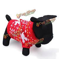 Собаки любимчика breathable теплые вязаные свитера и пиджаки зимой