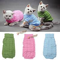 Сплошной цвет кота собаки любимчика breathable теплые вязаные свитера и пиджаки зимой