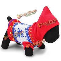 Олень животное собака дышащая вязаные свитера и пиджаки зимой синий красный