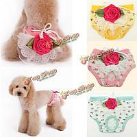 ПЭТ щенок собака женского нижнего белья цветочный санитарно шорты брюки пеленки