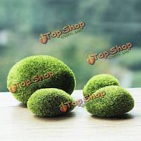 Камень зеленый мох декоративный 8 см