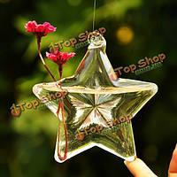 Счастливая звезда формы стеклянная ваза для цветов гидропонной установки контейнера