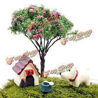 3шт различные Mini милые животные микро-ландшафтный сад DIY декор