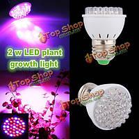 2W E27 роста сада завод LED лампы парниковых завод рассады свет