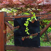 9 карманы настенные войлочные сумки для высадки растений в помещении на открытом воздухе завод расти мешок