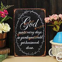 Бог лист железа декор рисунок сад плакат металла настенная живопись стены дома