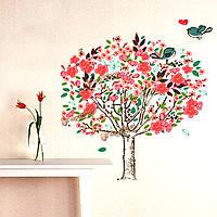 Стены стикер птицы дерево гостиная искусство росписи поделок номер любителей декора домашнего декора съемные стенки