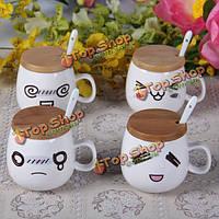 Белый путать смех и слезы диззи керамические кофейные чашки молока