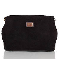 Сумка-клатч GUSSACI Женская сумка-клатч из качественного кожезаменителя и натуральной замши GUSSACI (ГУССАЧИ) TU1229-1-black