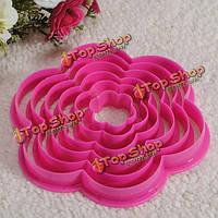 Цветок торт бисквитный резак формы помады инструмент кондитерские украшения