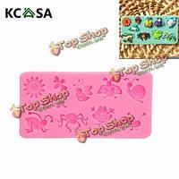 KCASA™ 3D силикон помадной Cake насекомое плесень животное декорирование плесень