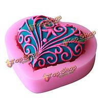 3D люблю силиконовые формы кружева шоколадные конфеты желе прессформы прессформы торта украшая инструменты