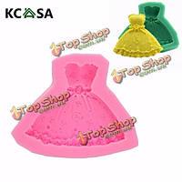KCASA™ свадебное платье помадная силиконовые формы для украшения торта ремесло сахар формы шоколада