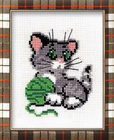 Набор для вышивания крестом «Котенок с клубком» (375), Риолис