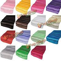 Многоцветный элегантная атласная свадьба банкет украшение стола